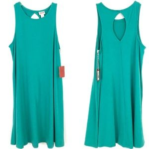6d5d151328e4 Mossimo Supply Co. Dresses - NEW Mossimo Keyhole knit swing tank dress teal
